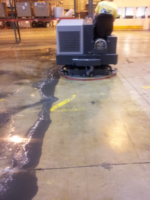 Warehouse concrete floor cleaning paul j enterprises inc for How to degrease concrete floor